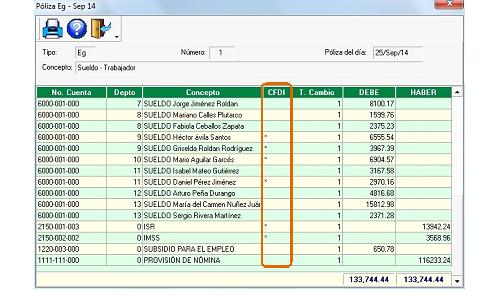 Computo.CloudIngenium.com - Enlace Aspel 339 - Póliza modelos con CFDI