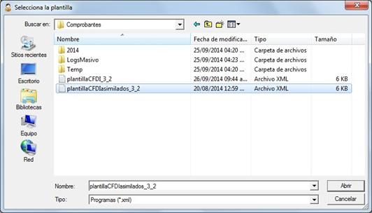 Computo.CloudIngenium.com - Enlace Aspel 339 - Selecciona la Plantilla
